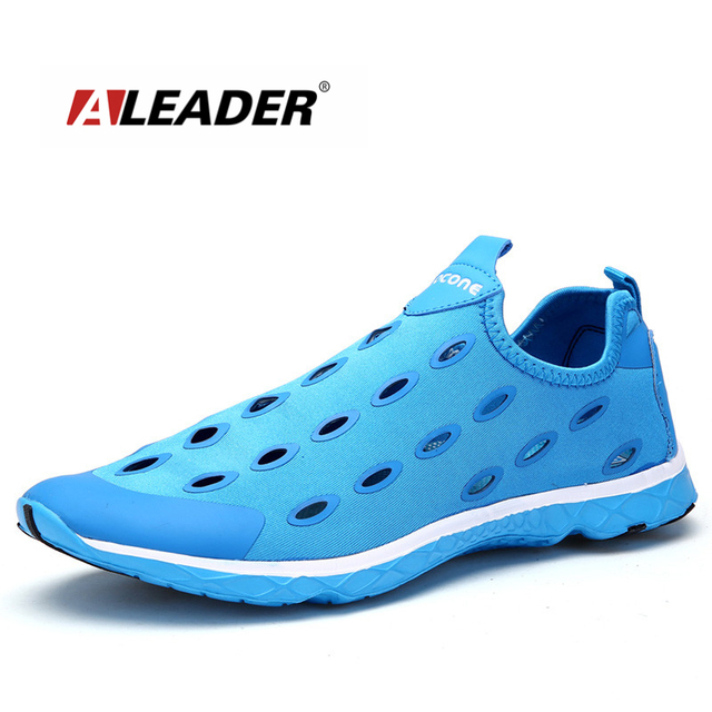 Aleader Mens Breathable Shoes New 2016 Summer Slip On Shoes Men Outdoor Breathable Walking Shoes Fashion Water Shoe zapatillas