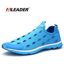 Aleader Мужские Дышащей Обуви Новые 2017 Летом Скольжения На Обувь Мужчины На Открытом Воздухе Дышащие Обувь Для Ходьбы Моды Вода Обуви zapatillas