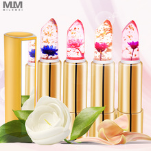 цена на 2pcs Flower Lipstick temperature change Moisturizer Jelly Flower Lipstick Magic Color Nutritious Lip Balm free shipping