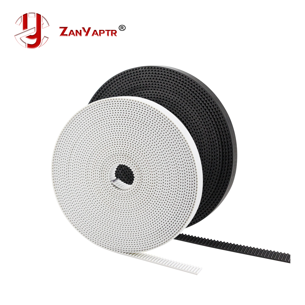 5M 10M/lot PU With Steel Core GT2 Belt Black & White Color 2GT Timing Belt 6mm Width 10M A Pack For 3d Printer Free Shipping