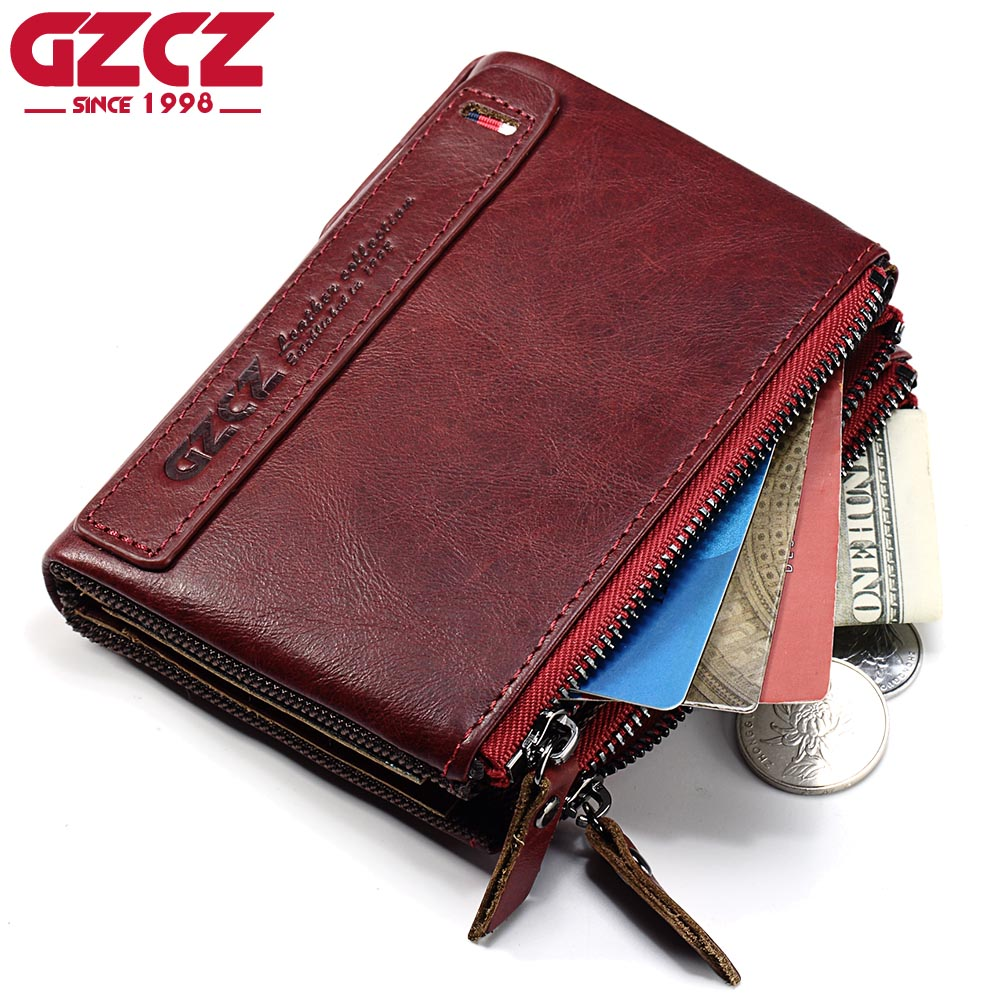 GZCZ Women Wallets And Purses 2017 New Arrival Slim Wallet Zipper Pouch Fashion Womens Genuine Leather Vallets Coin Pocket