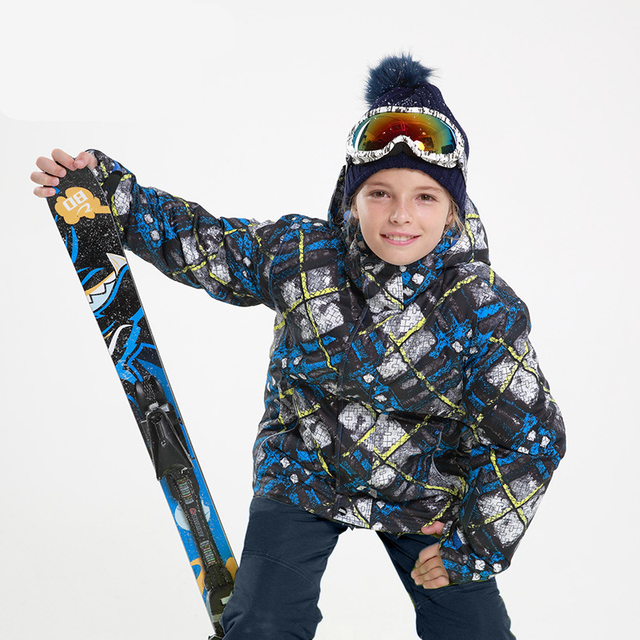 ad8e4b571 Jacket for a boy Children Outdoor Waterproof Winter Girls Snowboard Ski  Suits Pants Kids Clothes Set -30 Degree 30#