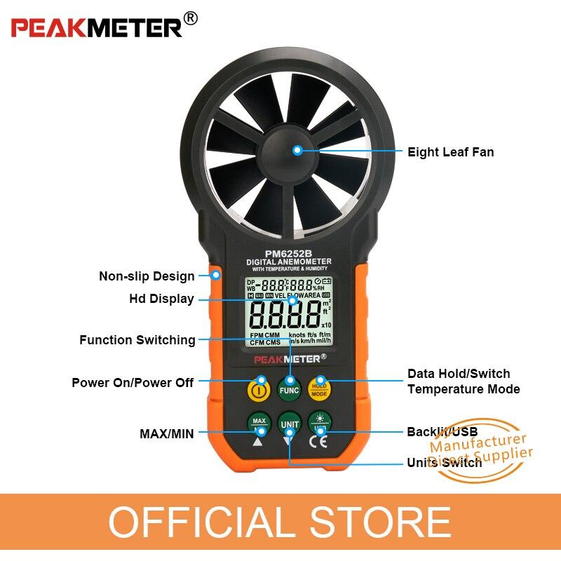 Anemometro digitale Misuratore di umidità della temperatura - Strumenti di misura - Fotografia 4