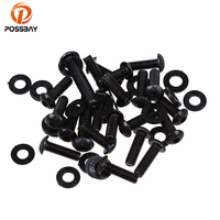 POSSBAY 1Set Motorcycle Body Fairing Fastener Fixation Screws Scooter Accessories Fit For Kawasaki ZX6R 2003 2004 05 06 07 08