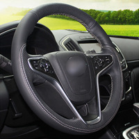 leather hand Top Leather Steering Wheel Hand-stitch on Wrap Cover For Buick Regal Opel Insignia 2014 2015 (3)