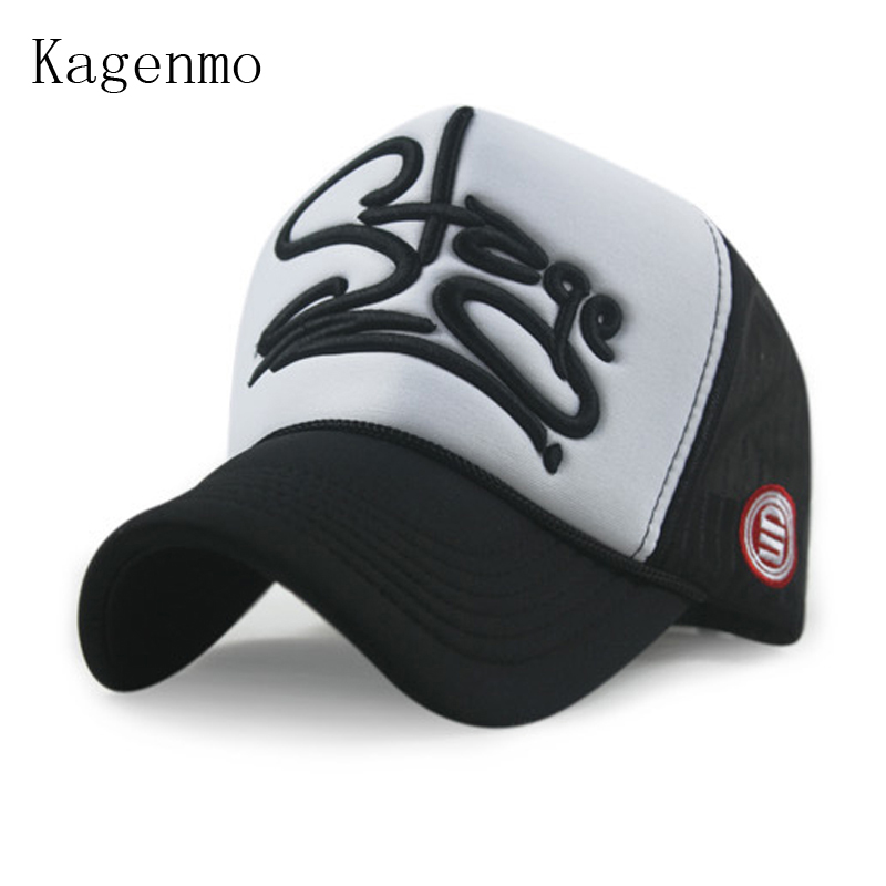 Kagenmo Mesh-Hat Baseball-Cap Letter Embroidery Fashion Love 2color Cotton Female Lady