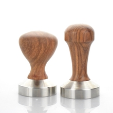 1 PC Espresso Coffee Tamper Wooden Handle with stainless stell base 49MM 51MM 53MM 57MM 58MM Coffee Hammer