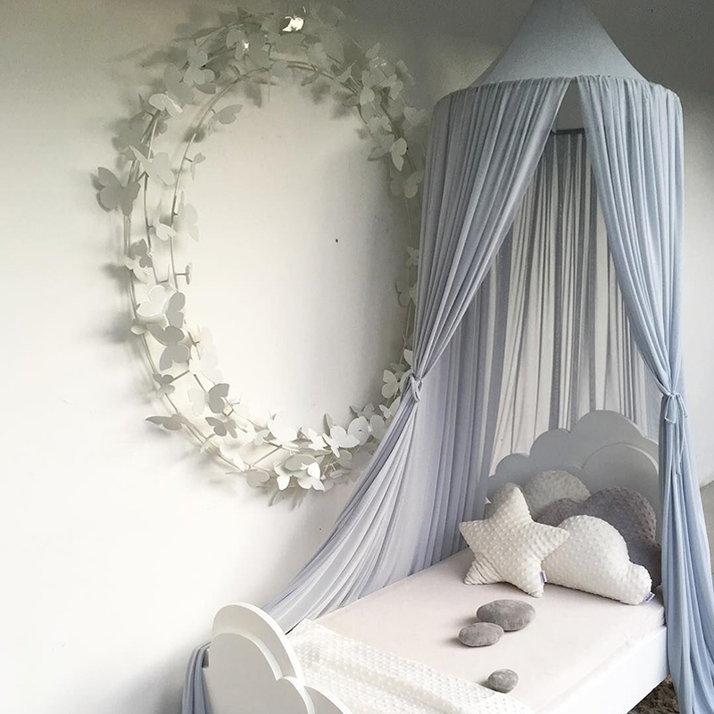 Baby Crib Netting Princess Dome Bed Canopy Childrens Bedding Round Lace Mosquito Net For Newbornbaby Sleeping 14 Colors Decor Crib Netting