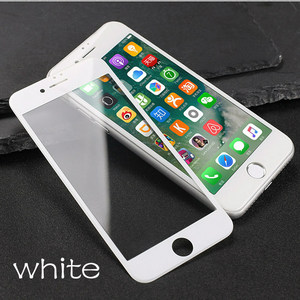 Image 4 - Verre coloré sur le pour iPhone 6 6S 7 8 protecteur décran Anti coup couverture complète verre de protection sur le pour iPhone 6 7 8 Plus