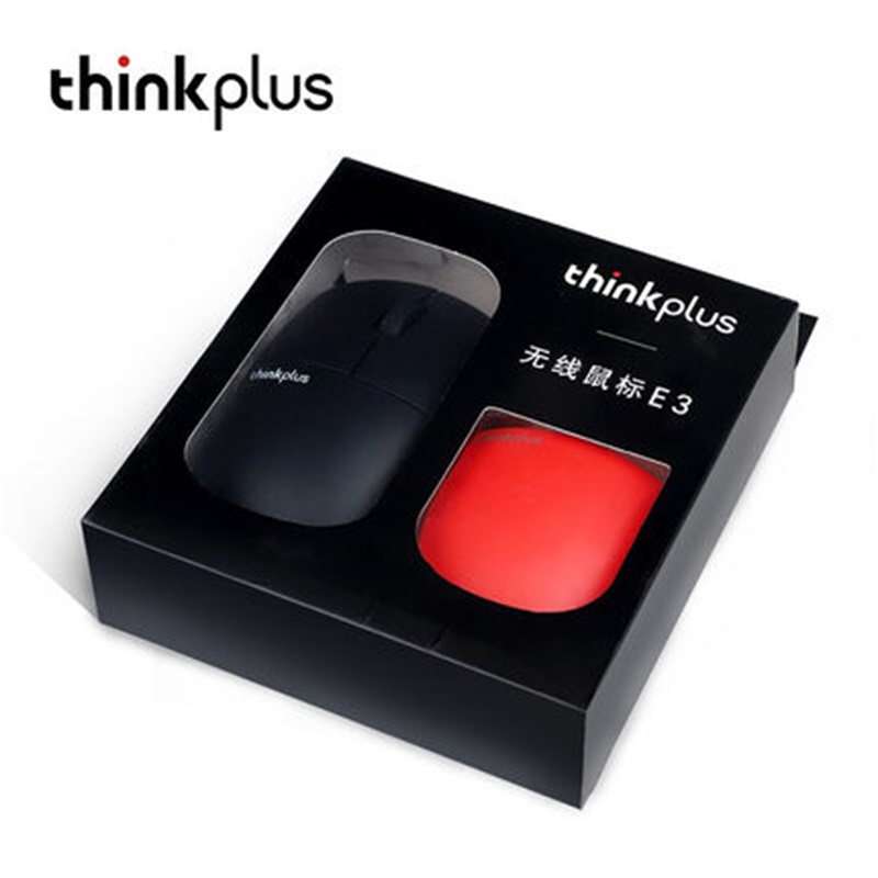 Image 2 - Newest lenovo Wireless mouse ThinkPad thinkplus E3  mute 2.4Ghz Wireless Can change shell RED black laptop computer mouse-in Mice from Computer & Office