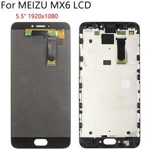 """Image 2 - 5,5 """"Оригинальный ЖК + рамка для MEIZU MX6 ЖК дисплей кодирующий преобразователь сенсорного экрана в сборе запасная часть 100% Протестировано без битых пикселей"""