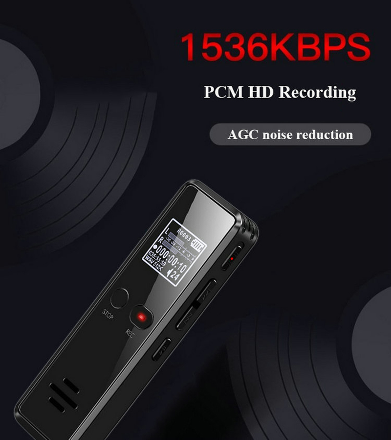 Volemer V90 Digital Voice Activated Recorder Dictaphone Long Distance Audio Recording Mp3 Player Noise Reduction Wav Recording (4)
