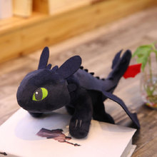 2019 How To Train Your Dragon 3 Plush Toy 35cm Toothless Light Fury/Night Fury Stuffed Doll Gift