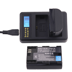 Image 5 - Hot selling 2x 2650mAh LP E6 LP E6 LPE6 Camera Battery pack For Canon 5D Mark II III 7D 60D EOS 6D 70D 80D for canon accessories