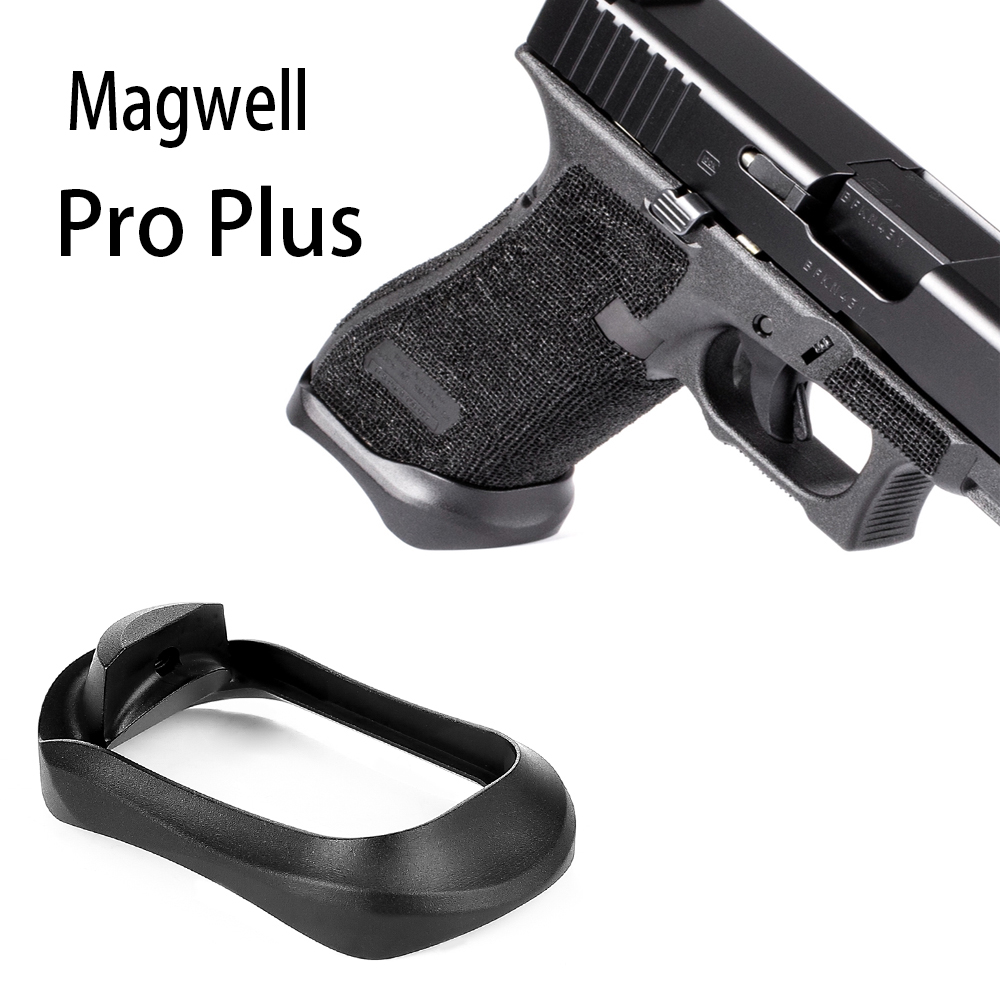 US $13 9 13% OFF|Magorui Glock PRO Plus Aluminum Magwell for Glock 17 22 24  31 34 35 37 Gen 1 4-in Hunting Gun Accessories from Sports & Entertainment