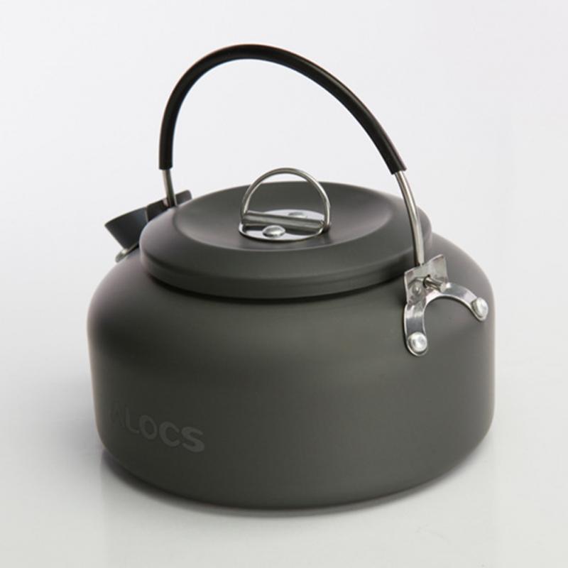 все цены на 2018 new Outdoor Portable Coffee Teapot Kettle Camping Hiking Picnic BBQ Kettle Water Pot онлайн