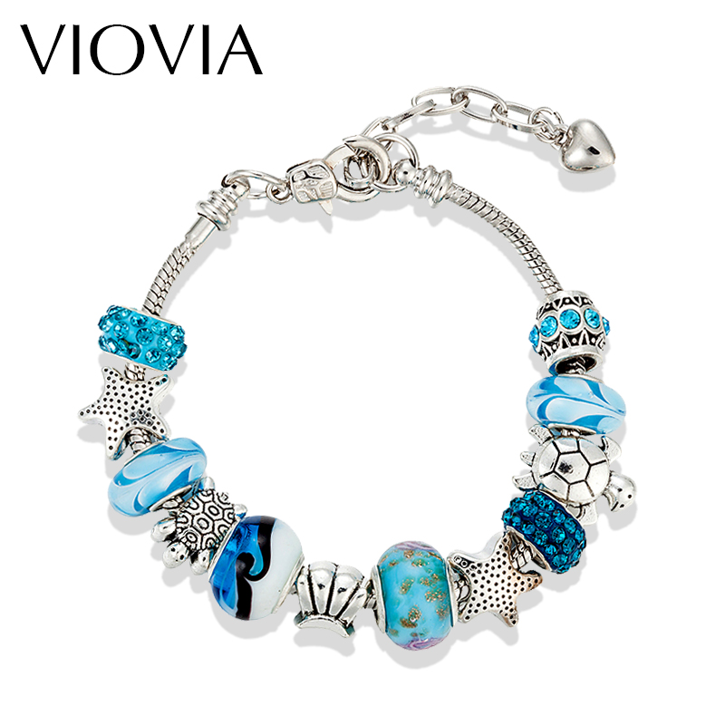 Viovia Fashion Diy Crystal Amp Glass Tortoise Star Beads Charm