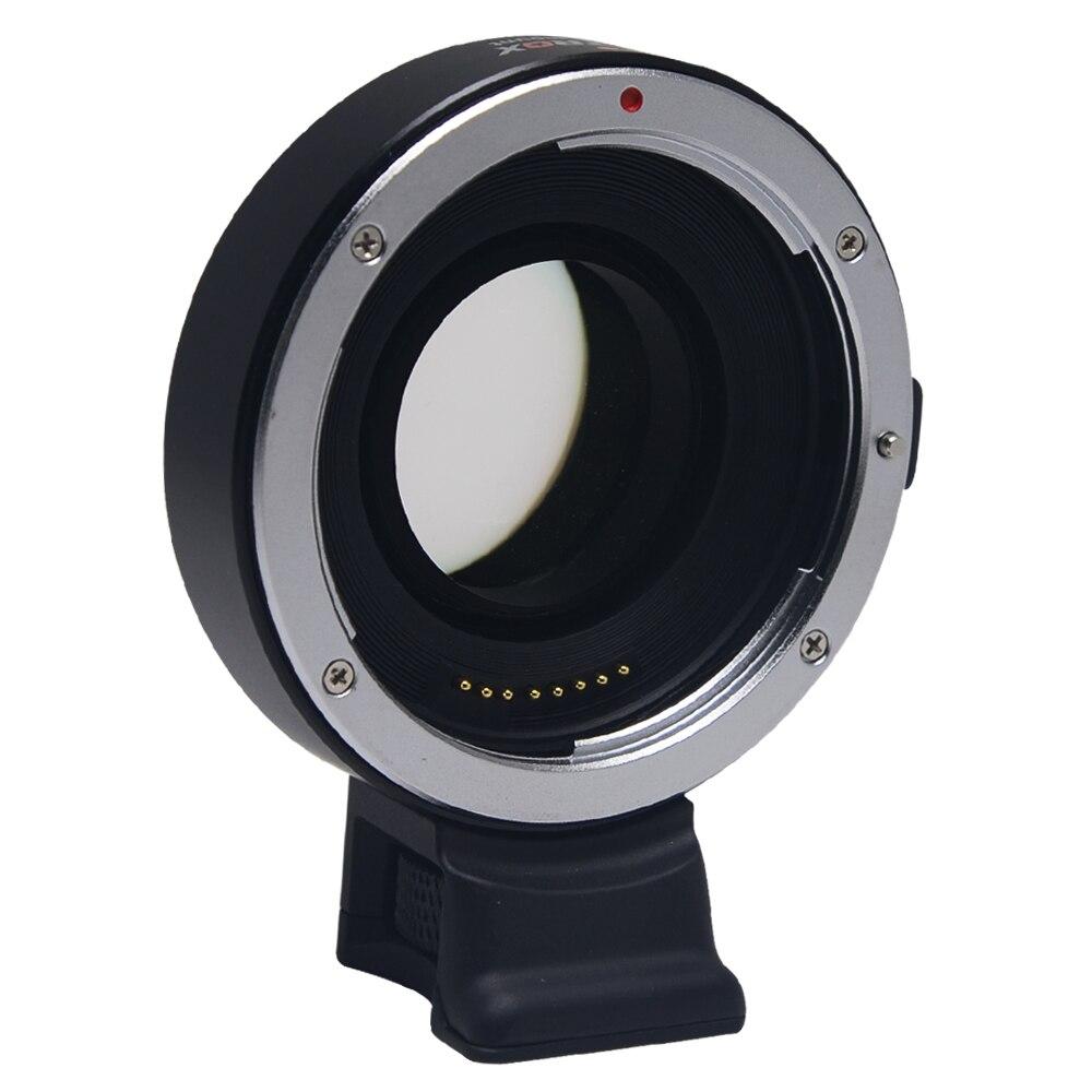Viltrox EF-E Auto Focus réducteur vitesse Booster lentille adaptateur pour Canon EF objectif à Sony NEX E caméra A9 A7 A7R A7SII A6500 NEX-7