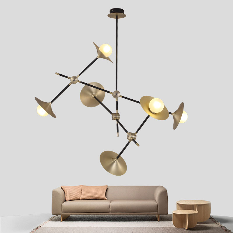 Modern Glass Led Pendant Light Speaker Style Dining Room Kitchen Designer Hanging Lamps Avize Suspension Luminaire