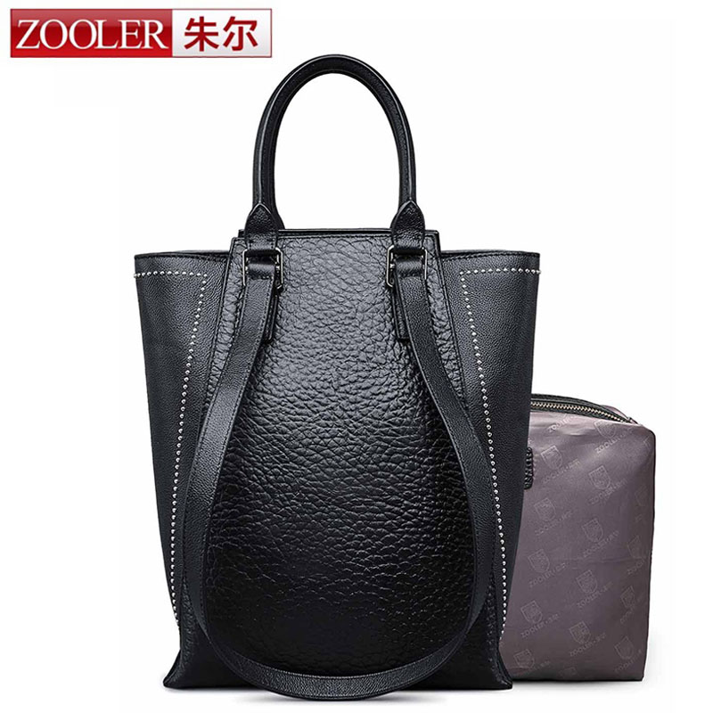 ZOOLER Brand New Women Handbag High Quality Cow Genuine Leather Tote Bag Large Capacity Female Leopard Shoulder Messenger Bags women shoulder bags genuine leather tote bag female luxury fashion handbag high quality large capacity bolsa feminina 2017 new