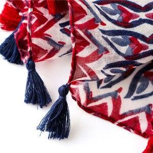 Image 3 - Женский шарф, шаль из Испании, этническая искусственная шаль, шарф из индийского этнического принта, шарф из пашмины, мусульманская искусственная шаль