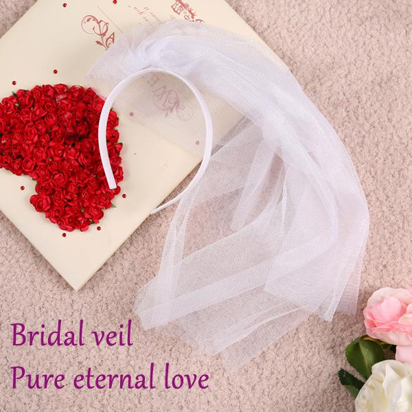 Wedding decoration bride hair accessories bridal veil fit bride wedding decoration bride hair accessories bridal veil fit bride bachelorette women dress party decorations in wedding junglespirit Images