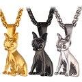 Chapado En oro Perro Encantador Colgante de Collar Para Los Hombres/Mujeres Regalo Chihuahua Dog Animal Joyería P365