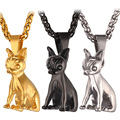 Gold Plated Lovely Dog Pendant Necklace For Men/Women Gift Chihuahua Dog Animal Jewelry P365