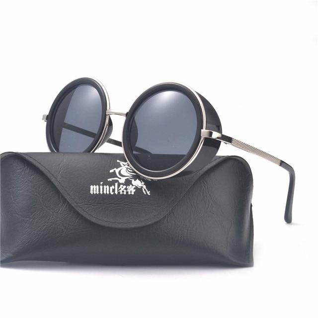 fc71e1321f MINCL  Retro Small Round Sunglasses Men Male Vintage punk Sunglass Women  Hip Hop Gold Glasses Eyewear UV400 lunette LXL