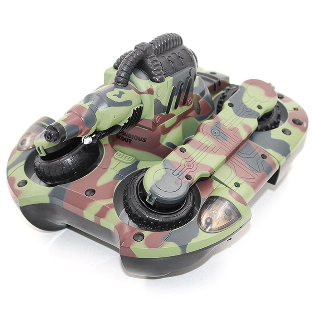 YED 24883A 2.4GHz Wireless RC Tank Wireless Water / Land Mode BB Bullet Shooting with LED Light радиоуправляемый танк амфибия yed amphibious with shooting function 27mhz