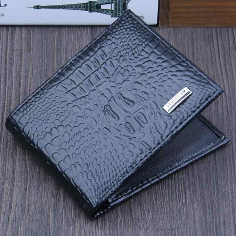 a871a2c2b ... Men Bifold Business Leather Wallet ID Credit Card Holder Purse Pockets  Drop shipping Brand new monedero ...