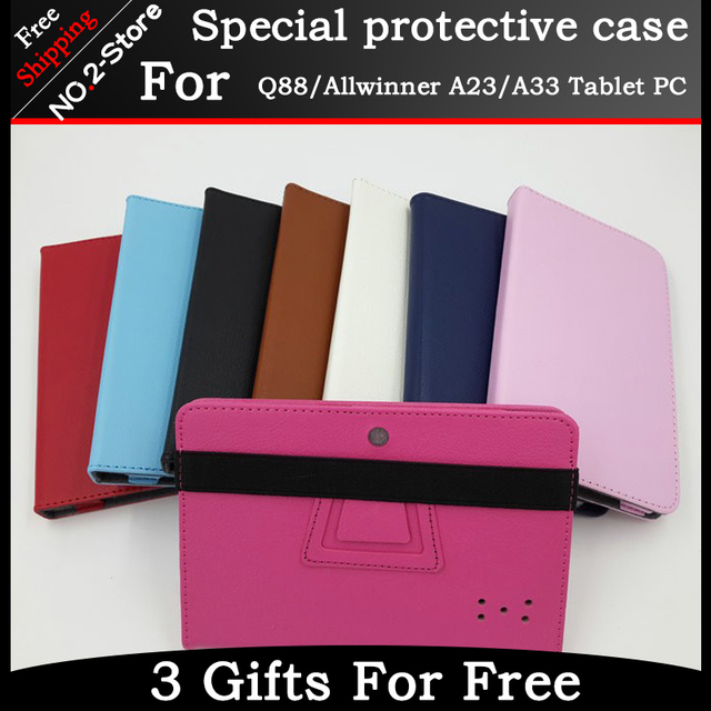 High-quality universal protective sleeve For Q88/Allwinner A23/A33 Tablet PC,7inch Portable Simple case for Q88 Freeshipping