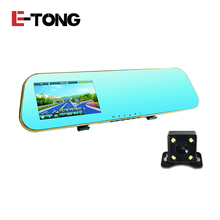 Best Buy Car Blue Backup Rear view Camera Auto DVR Cars Vehicle Mirror Parking Full HD Digital Video Recorder With Two Cameras