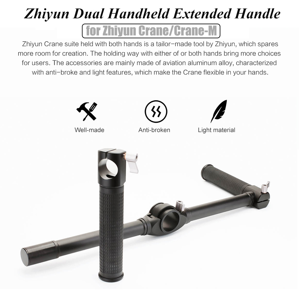ZHIYUN Official Dual Handheld Extended Handle for Zhiyun Crane Plus Crane V2 Crane M Gimbal Stabilizer 4
