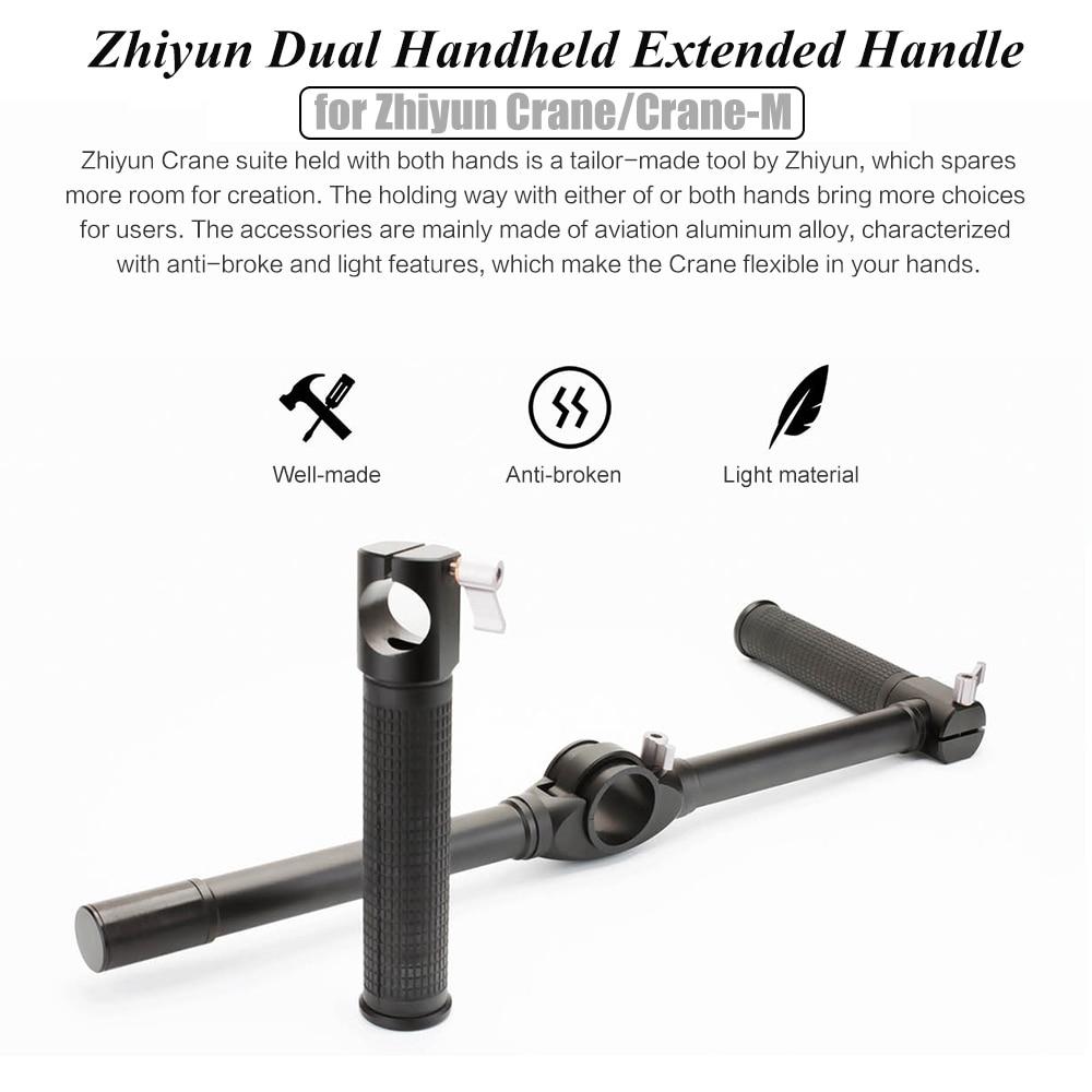 ZHIYUN Official Dual Handheld Extended Handle for Zhiyun Crane Plus Crane V2 Crane M Gimbal Stabilizer 4
