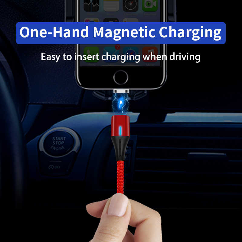 Магнитный Micro usb type-C кабель для iPhone Lightning 3а провод для быстрого заряда магнитное зарядное устройство кабели для мобильных телефонов