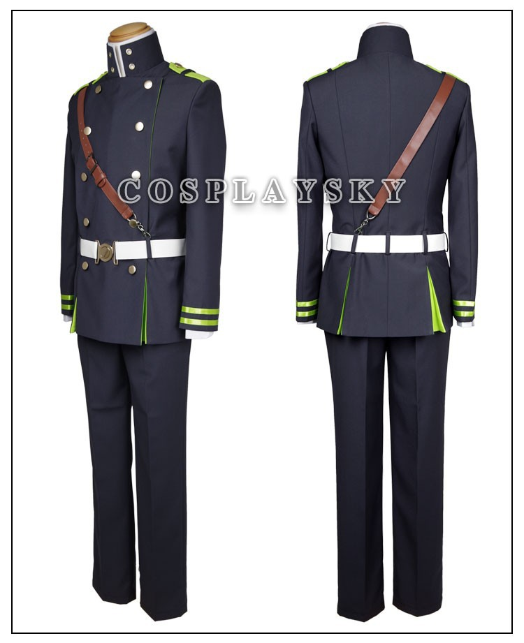 Seraph of the End Owari no SerafuYuichiro Hyakuya Uniform Cosplay Costume_04