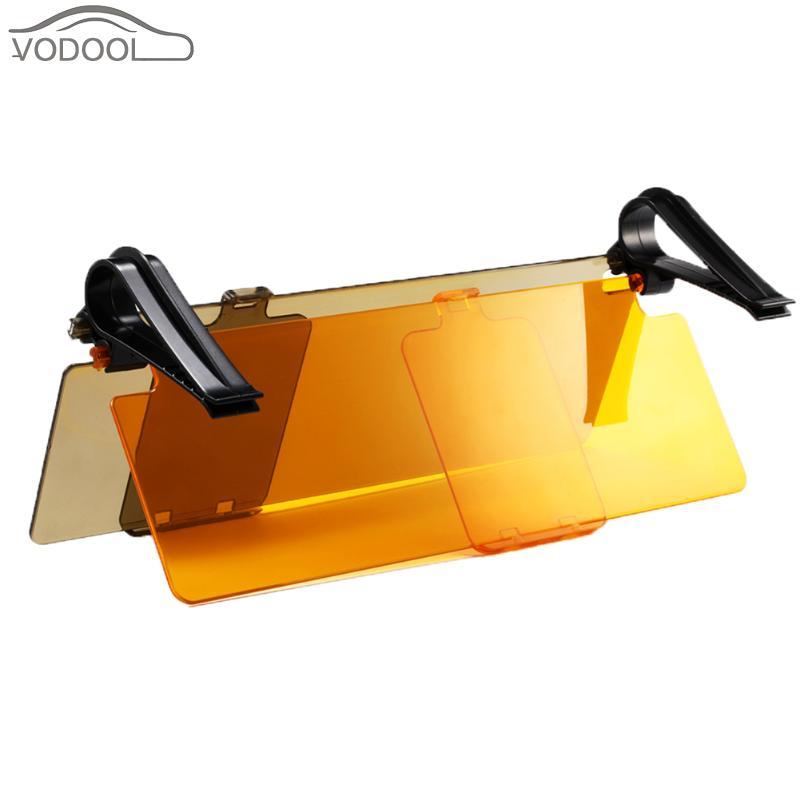 Fold Flip Abrigos de plumas coche Sol visera viseira gafas para el conductor día y noche anti-deslumbramiento antideslumbrante claro vista espejo auto Accesorios
