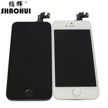 Shaohui un quanlity para el iphone 5s lcd digitalizador de pantalla táctil Montaje completo con cámara frontal + sensor flex + home botón