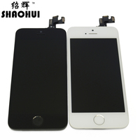 TOP Quanlity For IPhone 5S LCD Touch Screen Digitizer Complete Assembly Front Camera Sensor Flex Home