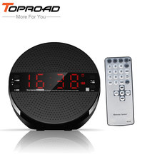 TOPROAD Bluetooth Speaker Wireless Stereo Subwoofer Sound Music Player Loudspeaker with Remote Control Support TF AUX FM Radio(China)