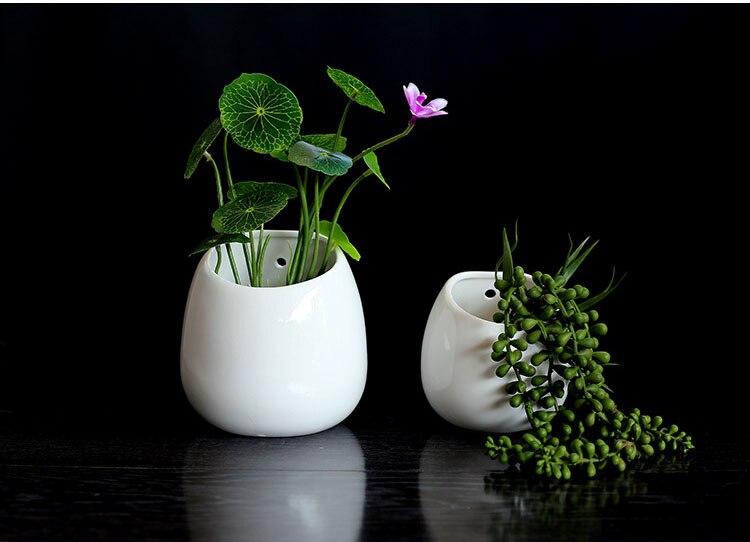 Fansi 1 Pcs Simulation Plantes Succulentes Blanc en C/éramique Suspension Flacon Plantes Artificielles pour la F/ête De Mariage Jardin Balcon Pendentif Mur pour Salon Filles Chambre