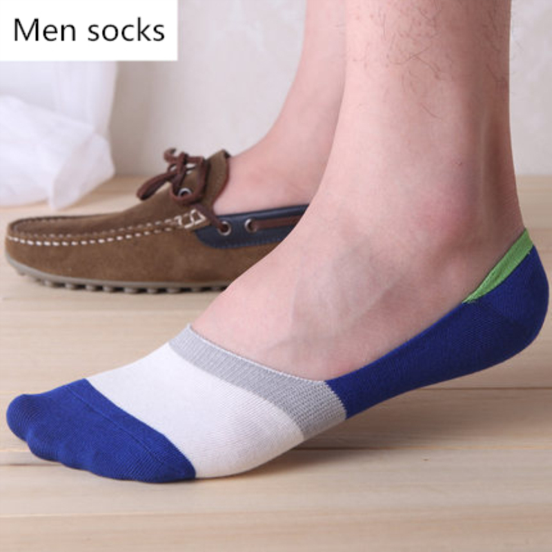 SALE Sock Slippers Men No Show Thin Invisible Striped Cotton Socks Man Summer High Quality Socks Men