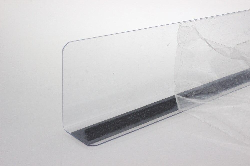 200mm plastic l shape commodities divider fixture shelf merchandise magnetic guard strip shelf divider protection corner