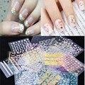 50 лист(ов) / много 3D цвета смешивания наклейки советы наклейка мода цветок совет украшения DIY палочки ногтей маникюр аксессуары