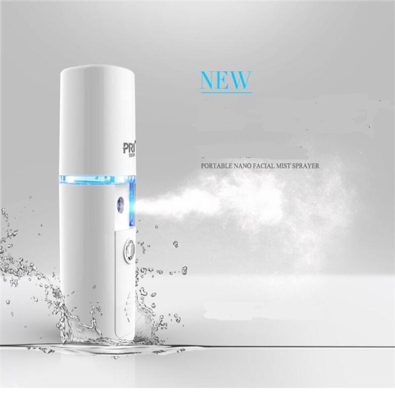 Pritech portable nano facail mist sprayer Steamer face device beauty skin care humidifier cold spray machine hydrate skin clean image