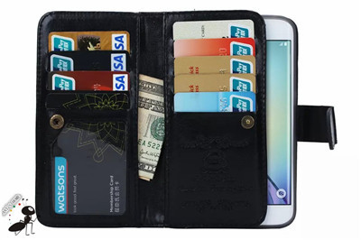 size 40 00007 62c5a US $8.44 35% OFF|For Samsung Galaxy S6 Edge Plus Phone Case Luxury Leather  Wallet Flip 9 Card Holders Cell Phone Cases For Samsung S6 Edge Plus-in ...