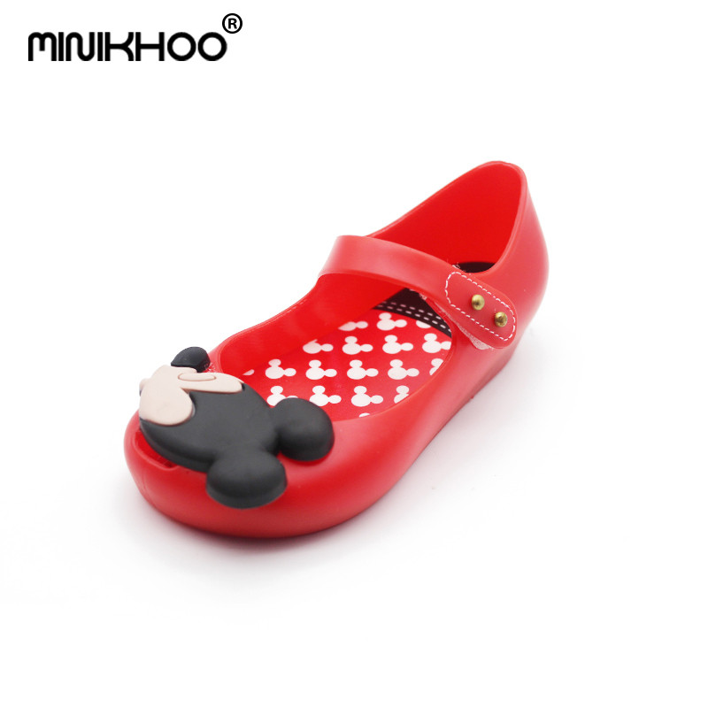 Mini Melissa 15-18.5cm Mickey Girls Sandals 2018 Girls Sandals Cute Girls Shoes Children Baby Shoes For Girl Shoes High Quality