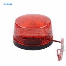 Diysecur 12 В Охранной Сигнализации стробсигнала Предупреждение Siren красный светодиод мигающий свет