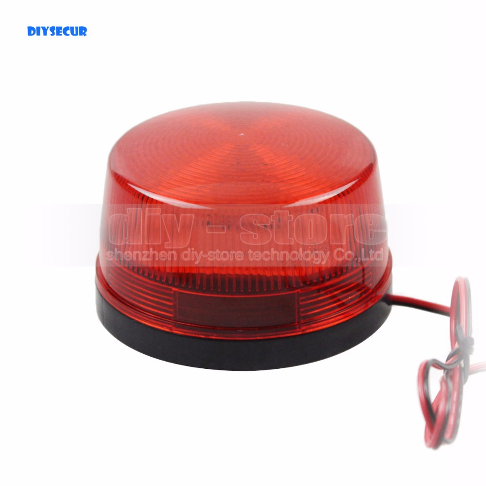 DIYSECUR 12V Security font b Alarm b font Strobe Signal Warning Siren Red LED Lamp Flashing